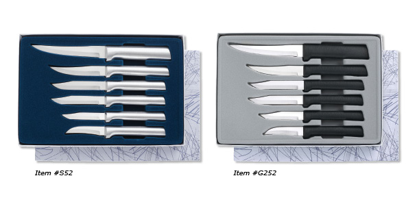 The All Star Paring Cutlery Gift sets include all the paring knives we make at Rada Cutlery.