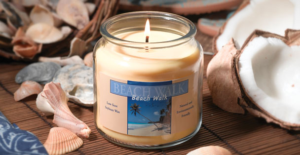 This wonderful candle will fill your home with the warm scent of coconut and fresh ocean air.