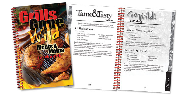 Get lots of grilling recipe ideas from the Grills Gone Wild cookbook.