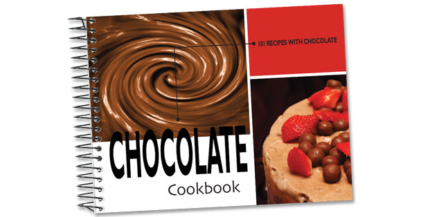 Rada Cutlery Chocolate cookbook with over 100 recipes.