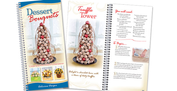 How to make dessert bouquets cookbook by Rada Cutlery.