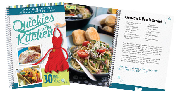 Cover of Quickies in the Kitchen with Asparagus recipe in beneath.