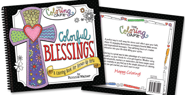 Image of the Colorful Blessing Adult Coloring book cover.