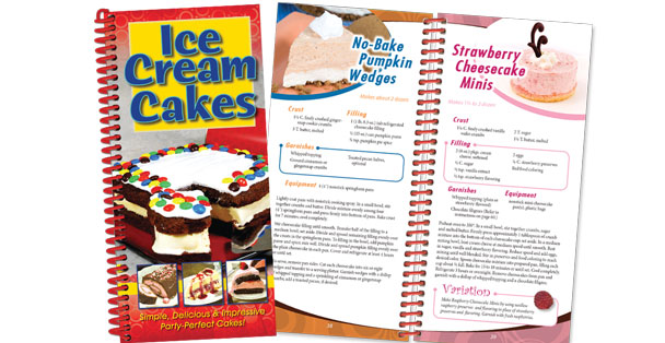 Learn how to make ice cream cakes from this Rada Cutlery cookbook.
