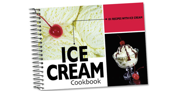 Rada Cutlery cookbook about ice cream recipes.