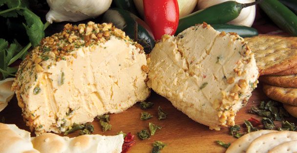 Make a delicious cheeseball with this recipe that is jalapeno flavored.