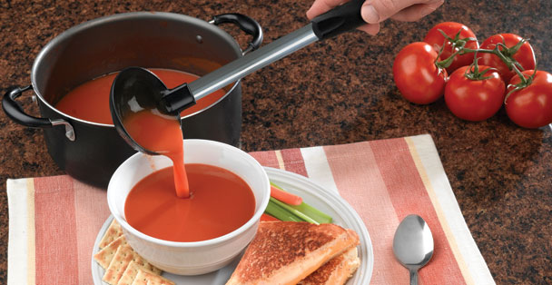The non-stick soup ladle by Rada Cutlery can also be used a punch ladle.