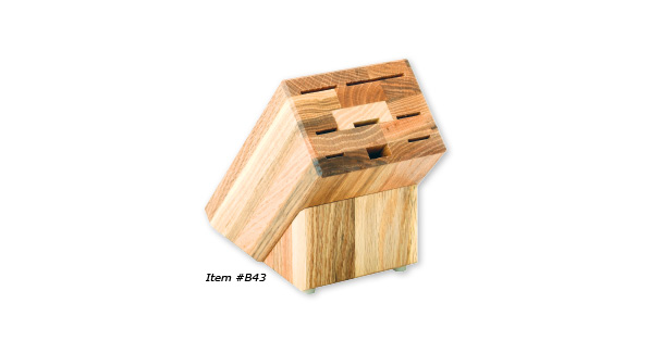 Oak Block with 8 holes