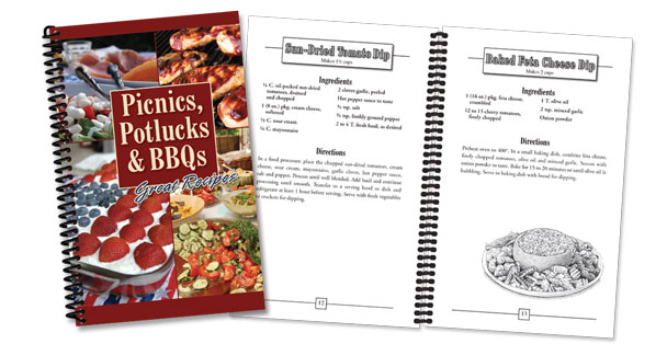 A cookbook for Picnic, Potlucks & BBQ dish ideas made by Rada Cutlery.