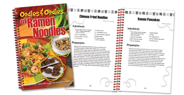 The Rada Cutlery Oodles and Oodles of Ramen Noodles is full of ramen noodle recipes.