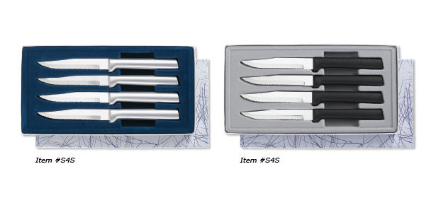 The Four Serrated Steak Knives Gift Sets are American made cutlery sets.
