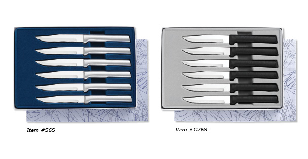 These steak knives cutlery sets come with six serrated steak knives that are 100 percent made in the USA.