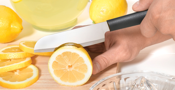 The best knife for slicing fruits and vegetables that has a sharp blade is the Cook's Utility Knife.