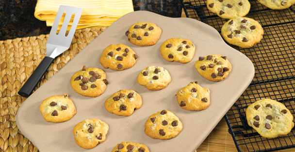 The Rada Cookie sheet easily bakes a dozen cookies at a time.