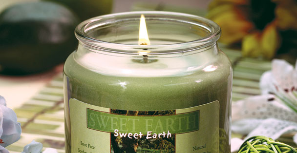 This sage green soy wax candle fills your bedroom or bath with a calming scent.