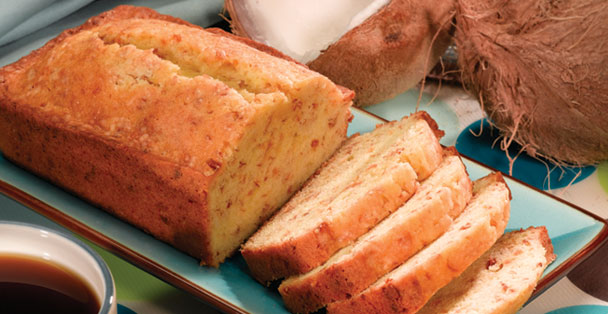 Learn how to make an Ambrosia Dessert with this easy to follow recipe using the Rada Cutlery Island Coconut Poundcake mix.