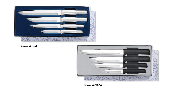 If you are looking for a wedding cutlery set Rada Cutlery offers a Wedding Register Gift set with four knives.