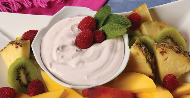 A fruit dip recipe that is also the perfect ingredient for a smoothie.
