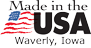 Made in the USA logo - Waverly, IA