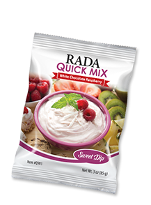 White Chocolate Raspberry Dip Quick Mix Package
