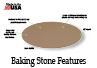 The Baking Stone has a textured surface to produce pizzeria-type crusts.