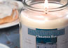 An all natural soy candle with the delicious scent of oven baked cinnamon rolls