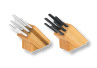 These Oak Block Cutlery sets come with seven different pieces including a carving fork.