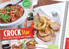 Picture of Crock Star Cookbook with page open to Loaded Potatoes.