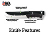The fillet knife has a long flexible blade that is the best knife to filet a fish with.