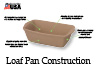 The Loaf Pan absorbs heat to maintain an even baking temperature and is capable of going from the freezer to a pre-heated oven without cracking.