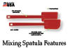 Features of the mixing spatula.