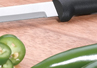 The Serrated Paring knife has small serrations along the blade that is just over three inches long.