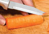 The serrated paring knife by Rada Cutlery is the size of our regular paring knife.