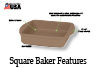 "The 8"" x 8"" Square Baker is the ideal size for brownies, crisps and cobblers."
