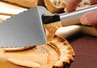 The cake pie server made by Rada Cutlery can cut and serve cakes, pies and pizza.