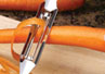 With the vegetable peeler by Rada you can quickly peel a carrot in seconds.