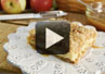 A video recipe on how to make Apple Streusel Cheecake Bars.