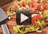 A video recipe on how to make a bacon feta frittata in a pan.