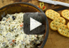 A video recipe on how to make olive dip.