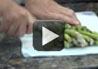 Chef Jere shares a tip on how to cut and prepare fresh asparagus for the grill.