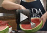 Create your own watermelon bowl for easy serving and quick clean-up.