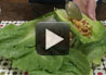 Delicious and easy make recipe for lettuce chicken wraps.