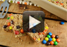 A video recipe on how to make Peanut Butter M & M bars.