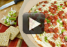 A video recipe on how to make hot pizza dip.