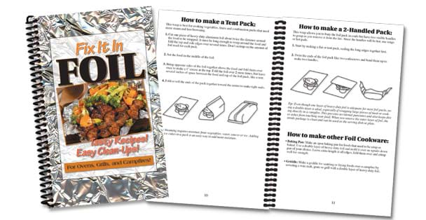 Fix it in Foil is full of recipes with an easy prep and clean-up.