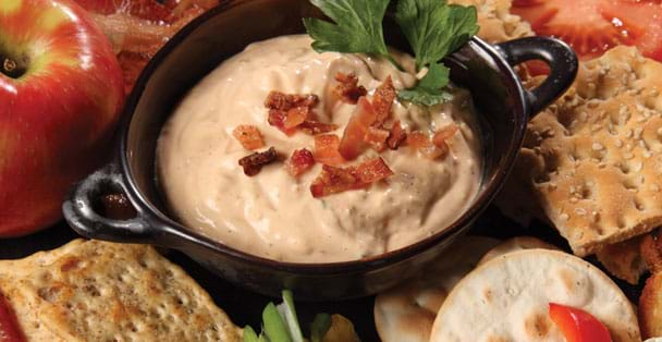 A warm dip recipe for Applewood Smoked Bacon dip.