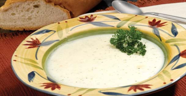 A baked potato soup recipe that can serve four.