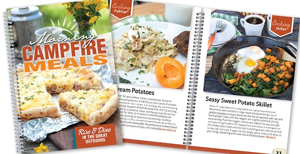 Campfire breakfast recipe book.