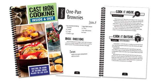 Cast iron cooking recipes cookbook.