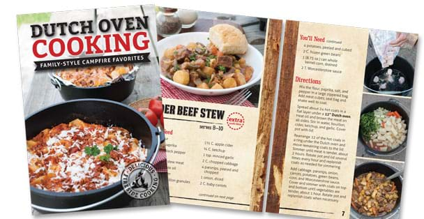 Dutch Oven Cooking cover and recipe. <br>